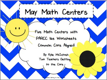 May Math Centers with PARCC Like Questions
