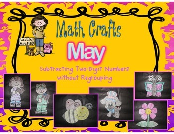 May Math Crafts Subtracting 2-Digit Numbers without Regrouping