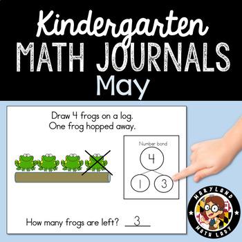 May Math Journals with Number Bonds: Kindergarten