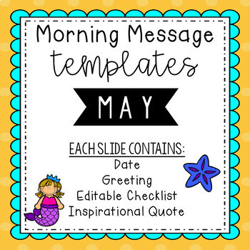 May Morning Message Editable Templates