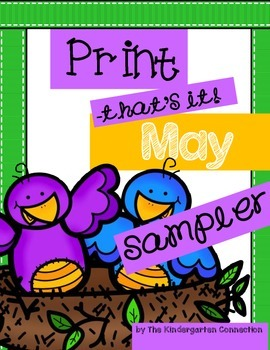 May Print - That's It! Kindergarten Math and Literacy Prin