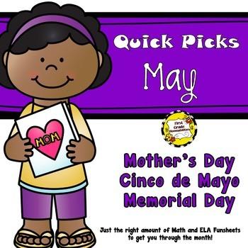May Quick Picks: Budget-Friendly ELA and Math Funsheets
