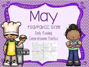 May Reading FSA/PARCC Style Daily Practice