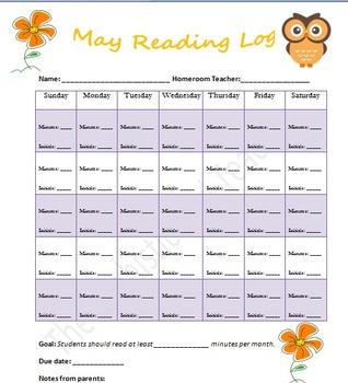 May Reading Log