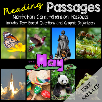 May Reading Passages - Freebie Sampler Butterfly Reading Passage