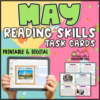 May Reading Skills Task Cards