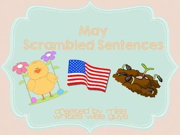 May Sentence Scramble