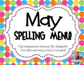 May Spelling Menu
