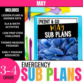 May Sub Plans (Print & Go)