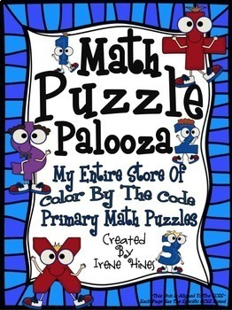 """Math Puzzle Palooza: My Entire Store Of """"Color-By-The-Code"""