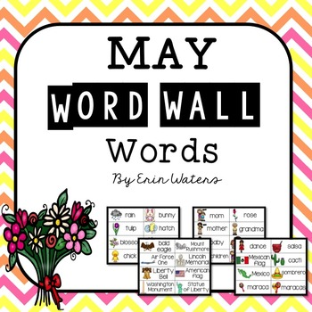 May Thematic Word Wall Words {86 Words for Mother's Day, M