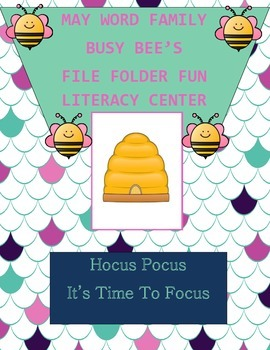Word Family Busy Bee's Literacy Center Week 1 & 2 (ine, iv