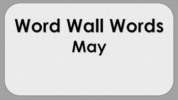 May Word Wall Words