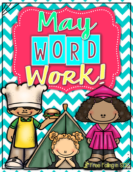 May Word Work (color by code using different word patterns)