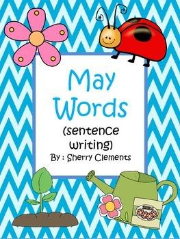 May Words Book (sentence writing)