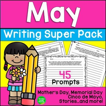 May Creative Exporitory Writing Super Pack: Mother's Day,