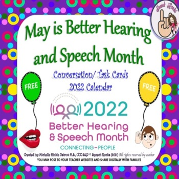 May is Better Hearing and Speech Month Calendar & Activiti
