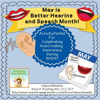 Better Hearing and Speech Month Activity Packet