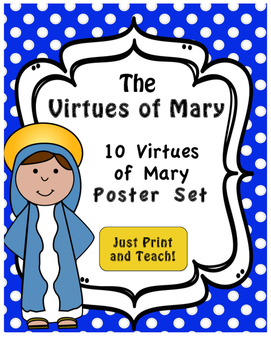 May is the Month of Mary - Virtues of Mary Poster Set
