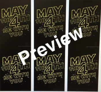 May the 4th (Star Wars Day) Be With You Pencil Flag Toppers