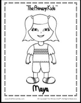 Maya Coloring Page - The Primary Kids