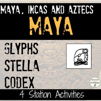 Aztec Inca and Maya  the Mayan Glyphs and Writing System S