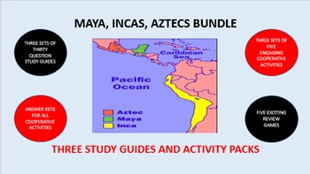Maya, Incas, Aztecs Bundle: Study Guides and Activity Packs