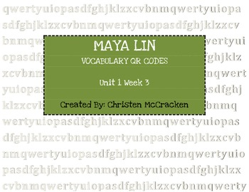 Maya Lin: Architect of Memory QR Code Vocabulary Scavenger Hunt