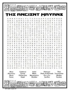 Mayan Wordsearch