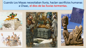 Mayans: Human sacrifices- Visual PPT, Listening and Speaki
