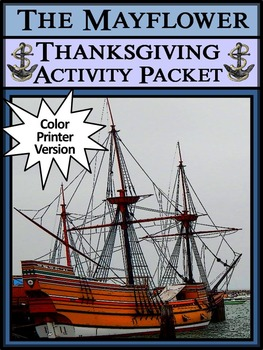 Mayflower Activities: The Mayflower Thanksgiving Activity Packet