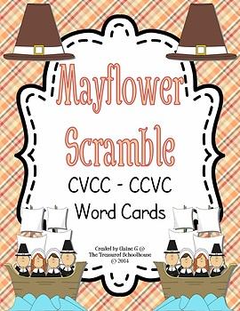 CVCC-CCVC Task Word Cards and Worksheet - Mayflower