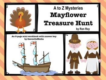Mayflower Treasure Hunt by Ron Roy - Mini-workbook with An