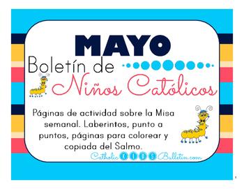 Mayo 2016 Boletín de Niños Católicos: Mass Bulletins in Spanish!