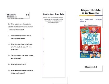 Mayor Hubble is in Trouble Tri-Fold Workbook My Weirder School