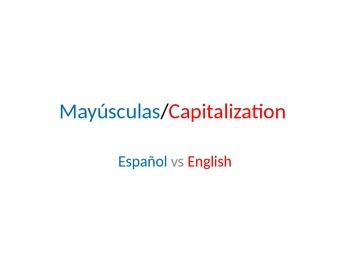 Mayusculas Capitalization English vs Spanish