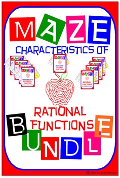 Maze - BUNDLE Characteristics of Rational Functions (9 Maz
