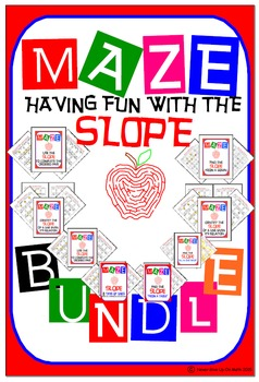 Maze - BUNDLE Find the SLOPE (10 MAZES)