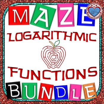 Maze - BUNDLE Logarithmic Functions (16 mazes) - {more maz