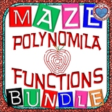 Maze - BUNDLE Polynomial Functions (8 Mazes = 109 FUN QUESTIONS)