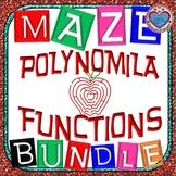 Maze - BUNDLE Polynomial Functions (8 Mazes = 109 FUN QUESTIONS)