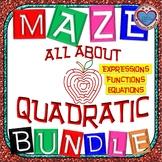 Maze -MEGA  BUNDLE Quadratic Functions (27 Mazes) - 87+ Pages