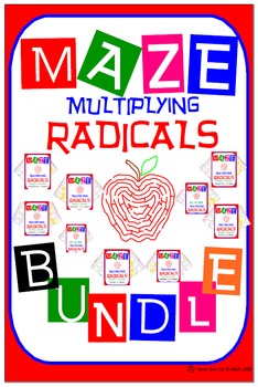 Maze - BUNDLE Radicals - Multiplying Radicals