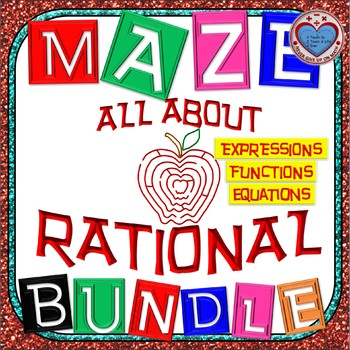 Maze - BUNDLE Rational Functions (20 Mazes = 258 Questions