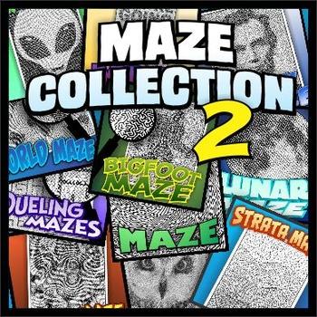 Maze Collection 2 - unique, full-page mazes