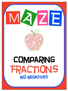 Maze - Comparing Fractions