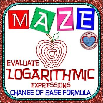 Maze - Evaluate Logarithmic Functions using Change of Base
