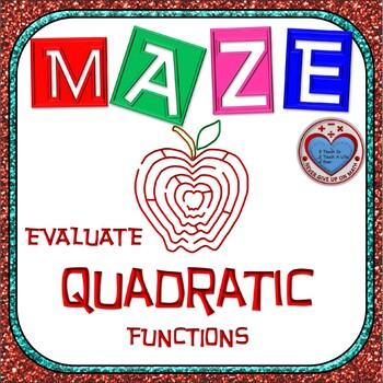Maze - Evaluating Quadratic Functions
