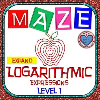 Maze - Expanding Logarithmic Functions (Simple Version)