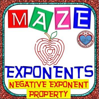 Maze - Exponents - Negative Exponent Property